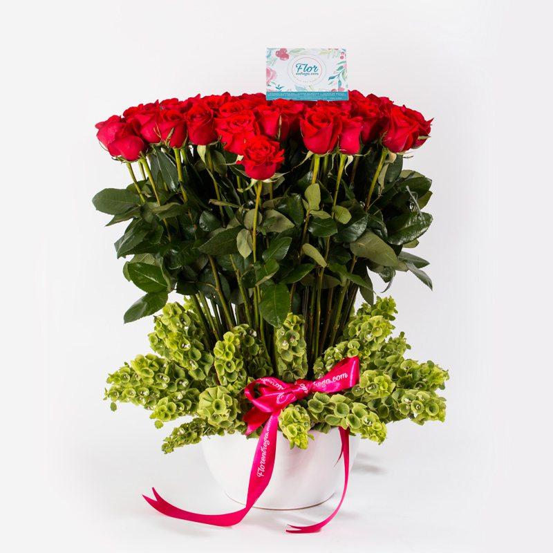 canasta 100 rosas